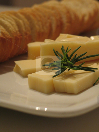Bread and cheese  stock photo,  by Mbudley Mbudley
