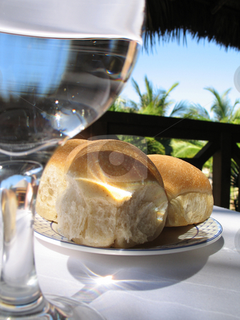 Bread and water stock photo,  by Mbudley Mbudley