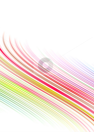 Rainbow cascade subtle stock photo, Illustrated bright coloured rainbow background with copy space by Michael Travers