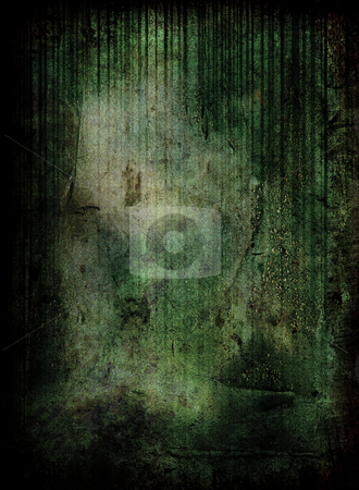 Green grunge scene stock photo, Green grunge background with room to add your own copy by Michael Travers