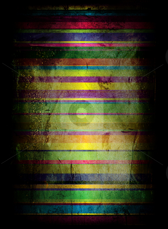 Gothic rainbow grunge stock photo, Grunge rainbow background with room to add your own copy by Michael Travers