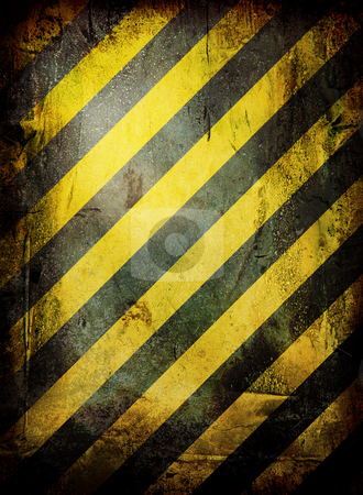 Weathered warning stock photo, Warning grunge background with room to add your own copy by Michael Travers