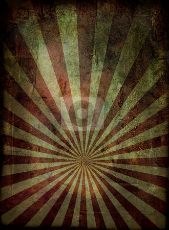 Grunge radiate background stock photo, Radiating grunge background in red and with a weathered effect by Michael Travers