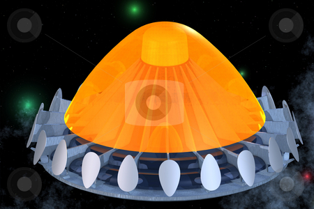 Space craft stock photo, Image contains a Clipping Path / Cutting Path for the main object by Ralf Kraft