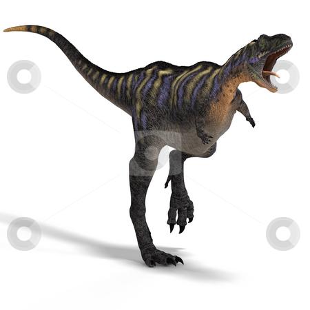 Dinosaur Aucasaurus stock photo, Dinosaur Aucasaurus with clipping path over white by Ralf Kraft