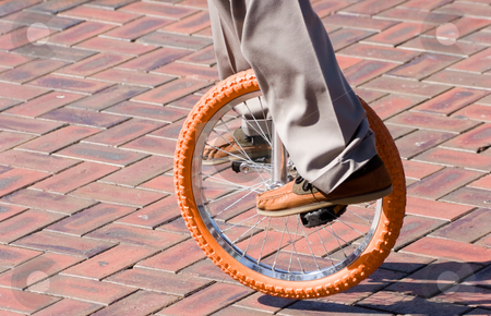 Unicycle stock photo, A unicycle being ridden by Nicholas Rjabow