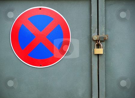 Forbidden zone stock photo, Conceptual photography of forbidden and lock zone by Sinisa Botas