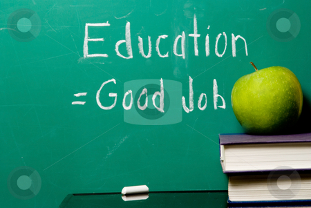 Education Equals Good Job stock photo, The concept that staying in school equates to getting a good job. by Robert Byron