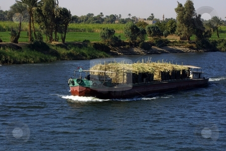 Egypt - travelling along the nile river stock photo,  by Michael Schweres