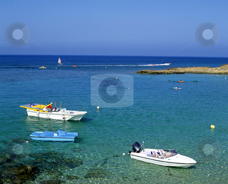 Fig Tree Bay stock photo, Pleasure boats in Fig Tree Bay on the island of Cyprus by Paul Phillips