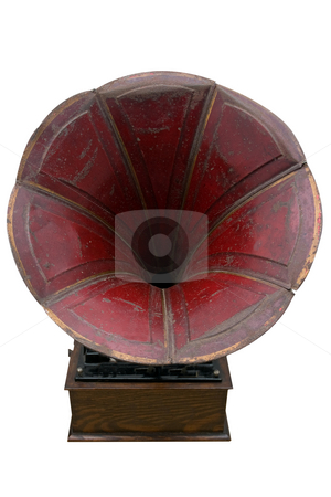 Listen stock photo, An old Phonograph (gramophone) used for reproducing sound in the late 19th century by Paul Phillips