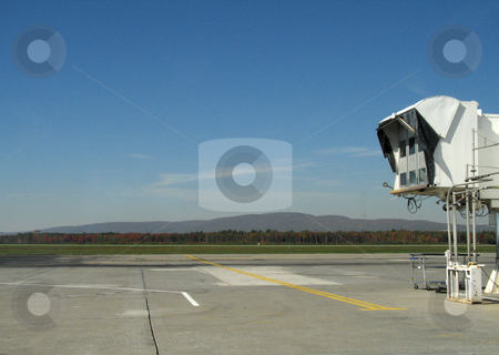 Empty airplane gate stock photo,  by Mbudley Mbudley