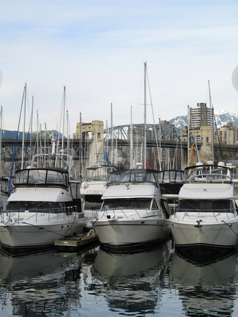 Boats parked at a marina stock photo,  by Mbudley Mbudley