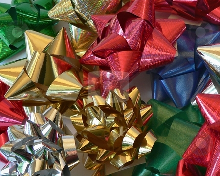 Christmas Bow stock photo, Christmas image of bows by Perry Correll