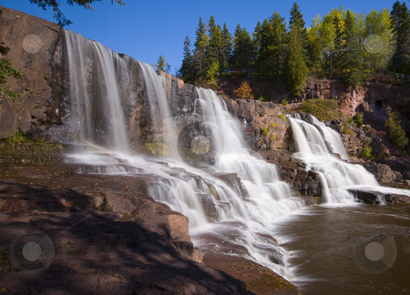 Middle Gooseberry Falls stock photo, Middle Gooseberry Falls along the North shore of Lake Superior in Minnesota by John McLaird