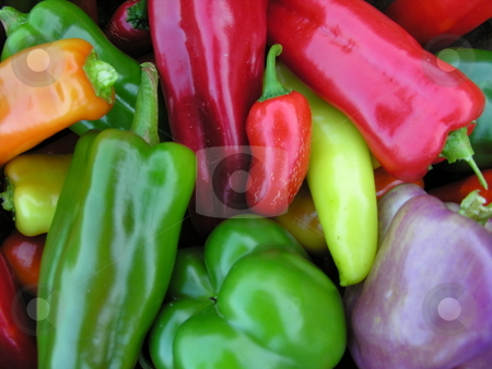 Peppers stock photo, Assorted Peppers by Jaime Wykle