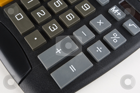 Desktop Calculator stock photo, Lower right-hand side of a desktop calculator by Steve Smith