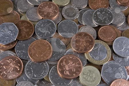 Random Coins stock photo, A pile of random used UK coinage by Steve Smith