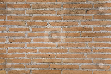 Brick wall texture stock photo, Red Brick wall texture by Tilo