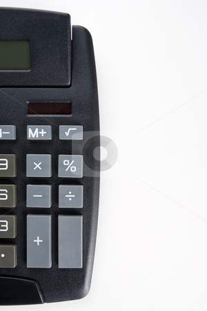 Calculator Blank stock photo, A desktop calculator with a blank key in place of the equals key set against white by Steve Smith