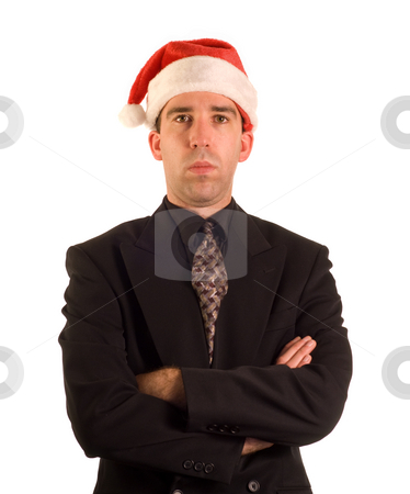 Scrooge stock photo, A grumpy scrooge, isolated against a white background by Richard Nelson