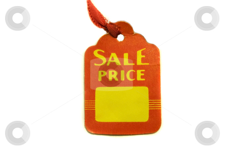 Sale Price Tag stock photo, Sale price tag on white background with space to put a price. by Julie Bentz