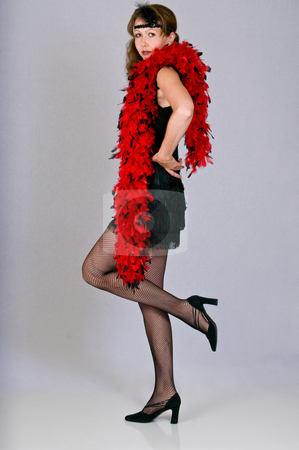 Sexy young woman dressed as a flapper stock photo, Roaring twenties style dress by RCarner Photography
