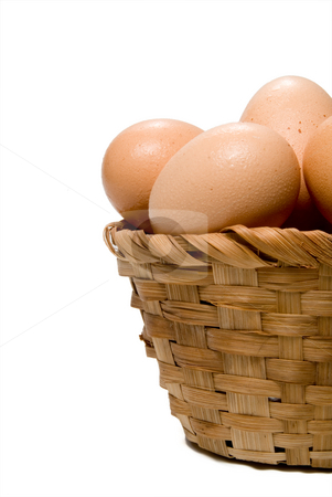 Egg Basket stock photo, Never put all of your eggs in one basket. by Robert Byron