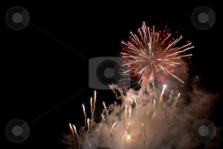 Australia day fireworks stock photo, A spectacular fireworks display to celebrate australia day by Stephen Gibson