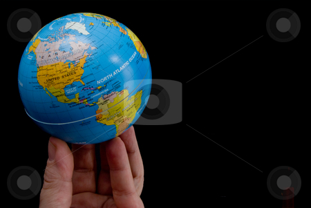 The World at My Fingertips stock photo, The concept of the world at my fingertips. by Robert Byron