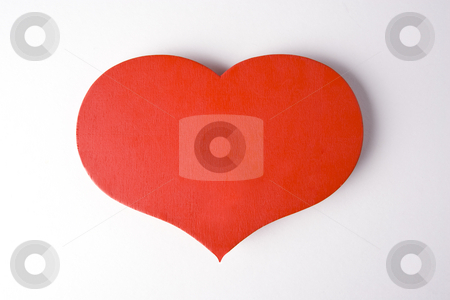 Big Hearted stock photo, A big red heart in the middle of a white frame with a drop shadow in the top right by Steve Smith
