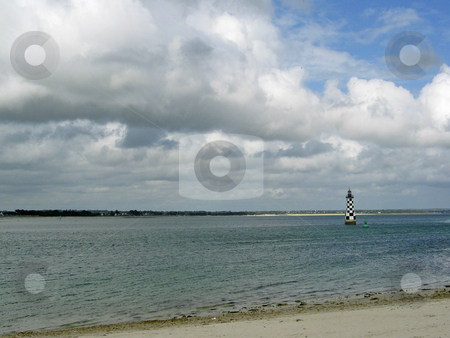 Loctudy, Lighthouse in Brittany, France stock photo, Loctudy, Lighthouse in Brittany, France by Lothar Hinz