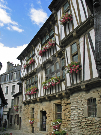 Quimperle, Timbered house in Brittany, Northern France stock photo, Quimperle, Timbered house in Brittany, Northern France by Lothar Hinz