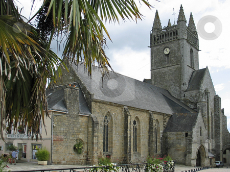 Quimperle, Church Eglise-Notre-Dame-de-l'Assomption, Brittany, Northern France stock photo, Quimperle, Church Eglise-Notre-Dame-de-l'Assomption, Brittany, Northern France by Lothar Hinz