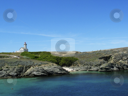 Lighthouse on Belle-Ile, Le Palais, Brittany, Northern France stock photo, Lighthouse on Belle-Ile, Le Palais, Brittany, Northern France by Lothar Hinz