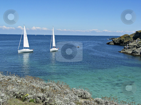 Belle-Ile, Le Pointe des Poulains, siling boats, Brittany, Northern France stock photo, Belle-Ile, Le Pointe des Poulains, siling boats, Brittany, Northern France by Lothar Hinz