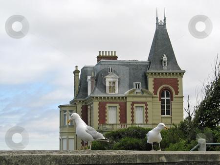 Strandvilla bei Dinard in der Nord-Bretagne stock photo,  by Lothar Hinz