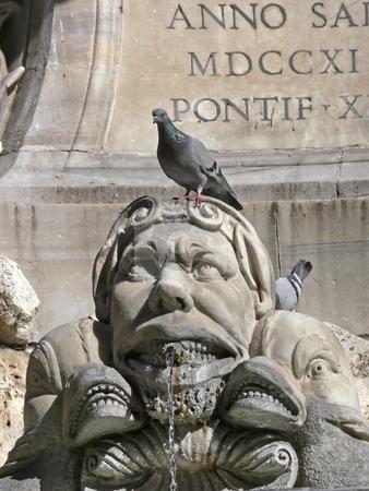 Rome, Piazza della Rotonda, fountain stock photo, Rome, Piazza della Rotonda, fountain by Lothar Hinz