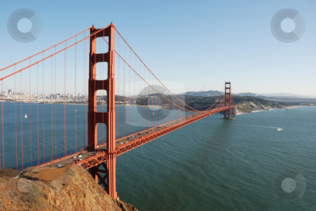 Golden Gate stock photo, Golden gate in october afternoon light with clear sky by Ivan Paunovic