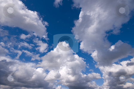A lot of clouds  stock photo, Fluffy clouds good for backgrounds by Karin Claus