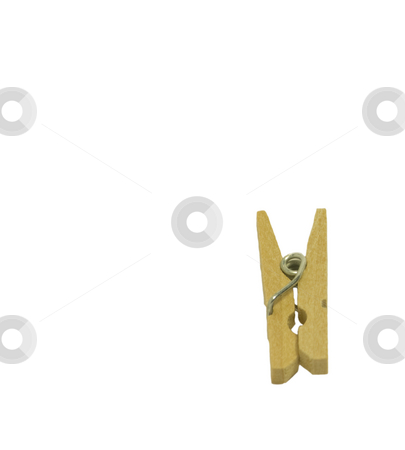 Clothes Peg stock photo, Clothes peg on white background. by Julie Bentz