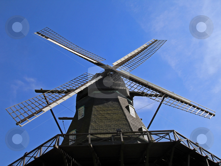 Windmill stock photo, A windmill from underneath by Per W?
