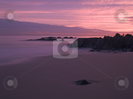 Evening Infinity stock photo, Admiring the sunset  at Crescent Bay Beach -  Laguna Beach, California by John McLaird