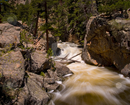 The Pool Rapids stock photo, The Pool rapids on the Big Thompson River in Colorado by John McLaird