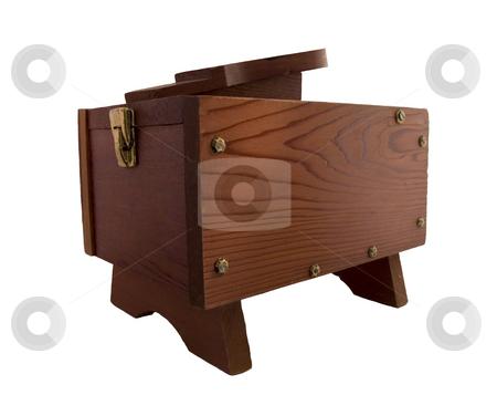 Shoe Shine Box stock photo, A wooden, rustic, antique, shoe shine box. by John McLaird