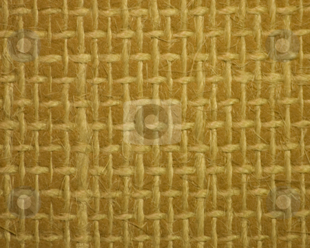 String Criss Cross Texture Background stock photo, String stitched in a criss cross pattern on lino. by Julie Bentz