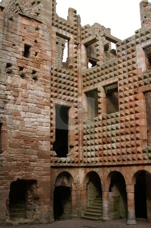 Crichton castle stock photo, Ruins of the scottisch crichton castle by Karin Claus