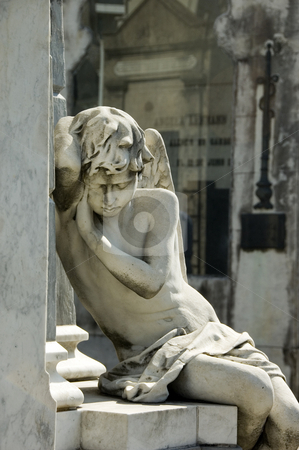 Cementerio de la Recoleta - Recoleta Cemetery stock photo, The famous angel statue of the cemetery of Recoleta in central Buenos Aires Argentina by Lee Torrens