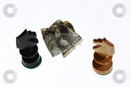 Checkmate stock photo, A setup suggesting financial problems and difficulties. by Gyozo Toth