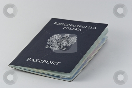 Polish passport stock photo, Polish passports are issued to Polish citizens to travel outside of Poland. by Mariusz Jurgielewicz